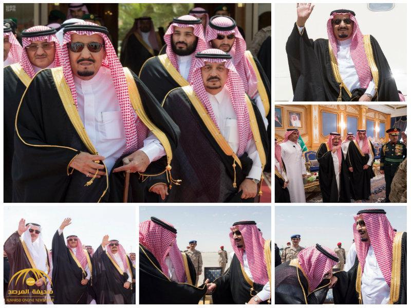 بالصور:خادم الحرمين يغادر الرياض متوجهاً إلى الأردن وينيب ولي العهد في إدارة شؤون الدولة