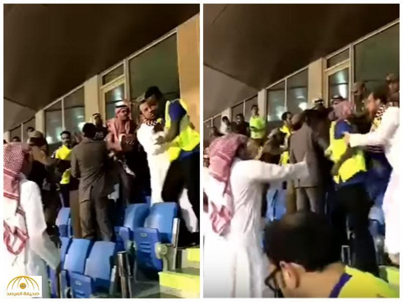 فيديو يوثق مضاربة بين إعلامي ومشجع في مدرجات النصر بسبب تصريحات حسين عبدالغني!