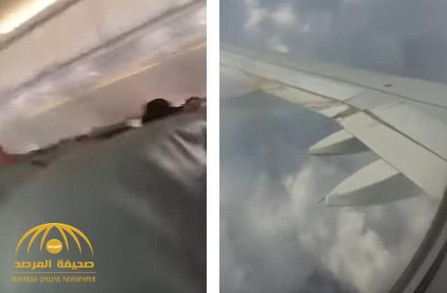 وسط صراخ السيدات والأطفال.. فيديو يوثق لحظة هلع ركاب طائرة سعودية تعرضت لمطبات هوائية
