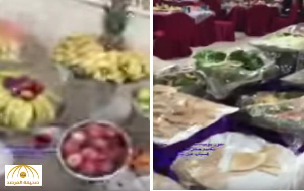 """بالفيديو: مائدة طولها نصف كيلو لتكريم متقاعدي """"تعليم حائل"""".. تثير غضب المغردين!"""