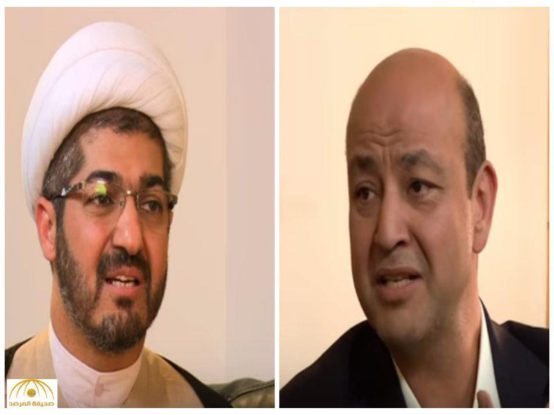 """بالفيديو..شيعي لـ"""" عمرو أديب"""" : زواج المتعة حلال 100%!"""