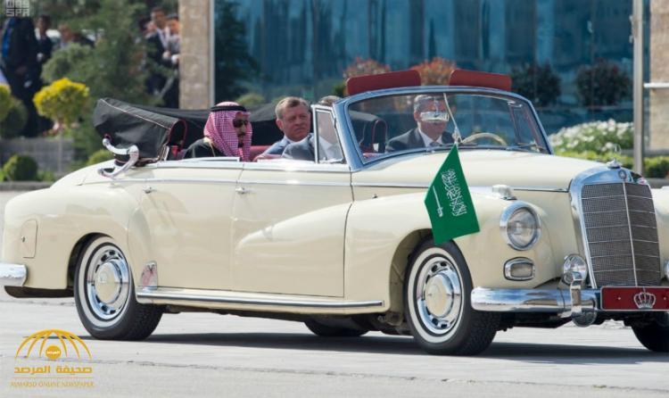 تعرف على قصة السيارة التي استقلها خادم الحرمين و العاهل الأردني خلال الاستقبال – صور