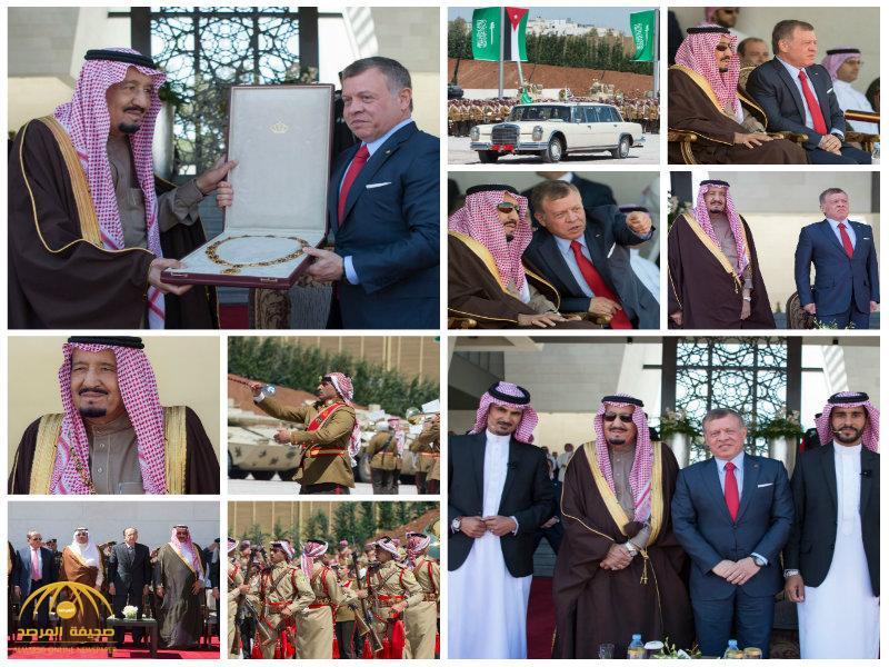 بالصور:خادم الحرمين يشرف حفل العرض العسكري بمناسبة زيارته للمملكة الأردنية