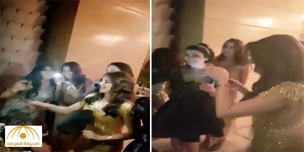 """فيديو """"لجين عمران"""" الراقص في حفل وداع عزوبية المغربية """"مريم سعيد"""" يشعل مواقع التواصل"""
