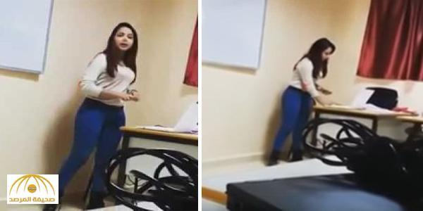 بالفيديو.. معلمة مغربية تثير الجدل بسبب ملابسها داخل الفصل