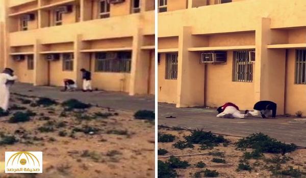 بالفيديو: شاهد طلاب يهربون من المدرسة بالقفز من النافذة وأحدهم يتعرض لموقف مُضحك