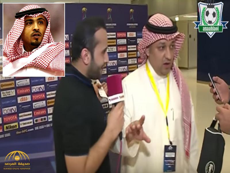 """عادل عزت يوضح سبب تجاهله لقناة  """"الكأس القطرية""""..والأمير محمد بن فيصل :تصرفك مؤسف جداً"""