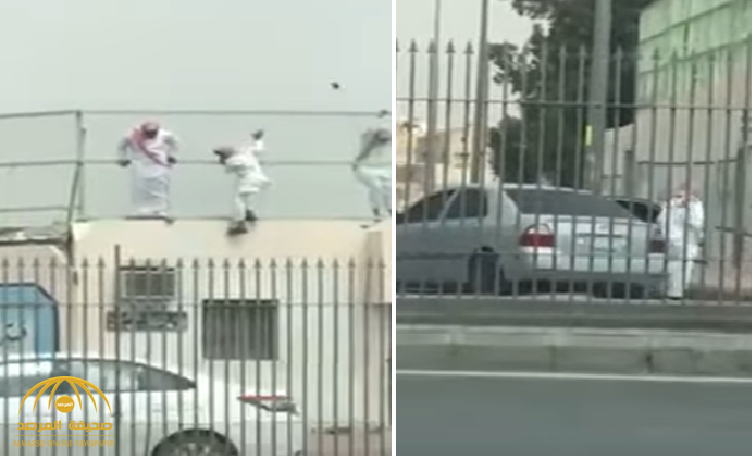 عرضوا حياتهم للخطر وبانتظارهم سيارة.. بالفيديو : لحظة هروب طلاب ثانوية من مدرسة بالرياض!