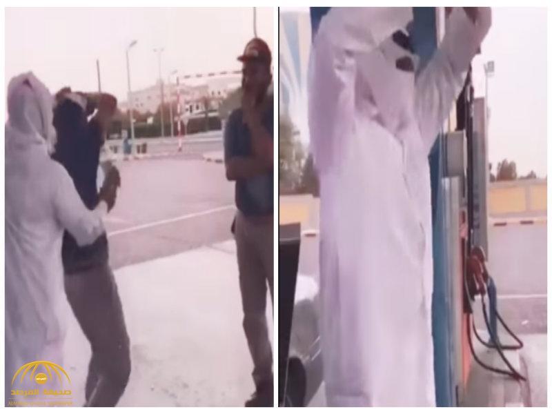 شاهد:كويتي يرقص على أغاني هندية مع عمال محطة وقود