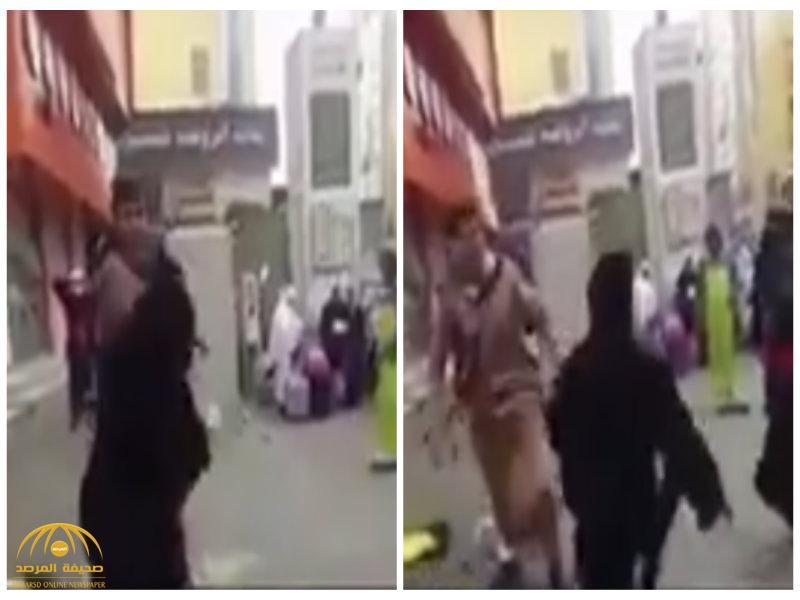 """""""صفعها على وجهها بقوة"""".. فيديو يوثق اعتداء شاب على فتاة بالحرم المكي.. شاهد رد فعلها !"""