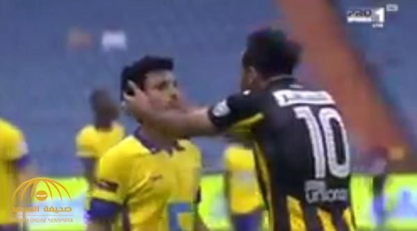 شاهد كيف تصرف خالد الغامدي مع لاعب الاتحاد كهربا