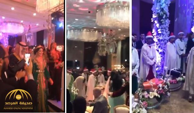 """""""بتكلفة بلغت 5 ملايين ريال"""".. فيديو حفل زفاف رجل أعمال سعودي على ابنة ثري مغربي"""