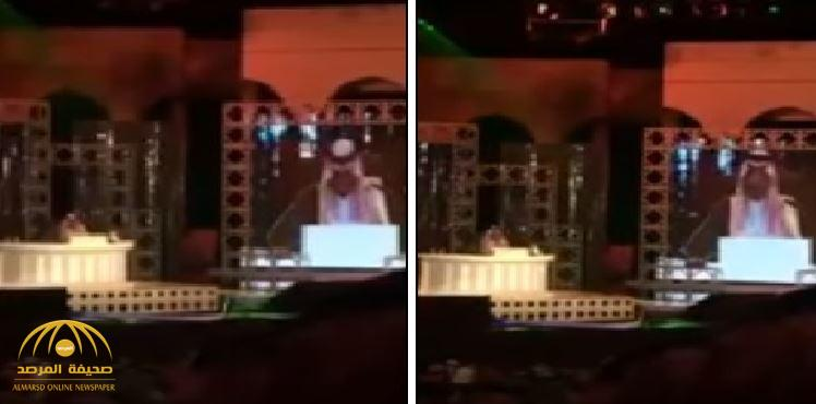 """بالفيديو: شاهد رد فعل الحضور لأمسية الأمير سعود بن عبد الله عقب إطلاق """"زغرودة"""""""