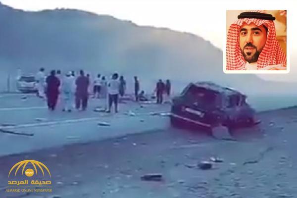 بالفيديو : شاهد لحظة وقوع حادث سيارة الأمير ناصر بن سلطان الذي توفي على إثره
