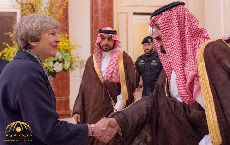 بالصور: ولي ولي العهد يلتقي رئيسة وزراء بريطانيا