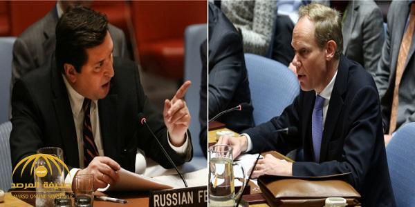 بالفيديو.. المندوب الروسي في الأمم المتحدة يهاجم نظيره البريطاني : انظر إلي عندما أتحدث إليك