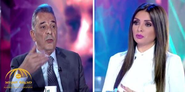 """بالفيديو .. محمود حميدة لمذيعة على الهواء : """" انتي مبتفهميش """" .. والأخيرة ترد عليه"""