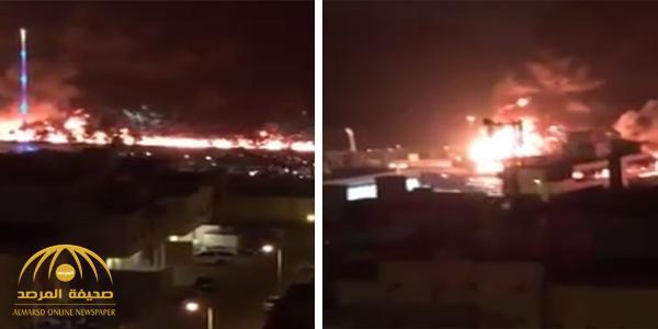 بالفيديو: اندلاع حريق هائل على طريق مكة جدة السريع