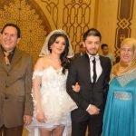 شاهد .. 20 صورة من حفل زفاف فنانين  تثير ضجة في مصر بسبب فستان العروس !