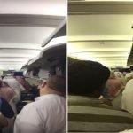 بالفيديو.. مشاجرة بين مواطن وموظف على متن طائرة «نسما»