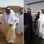 بالفيديو والصور : لحظة وصول الشيخ حمد بن خليفة آل ثاني لبلدة أشيقر على متن طائرة هليكوبتر