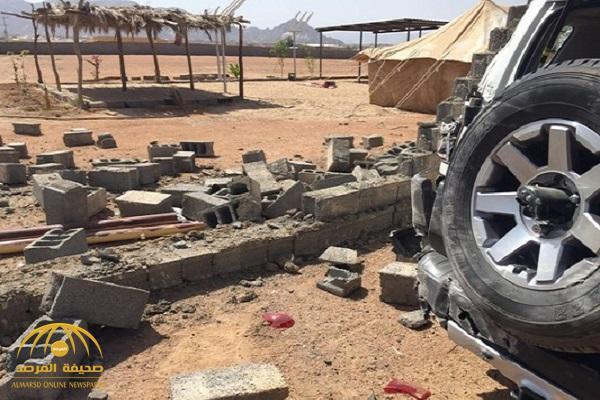 بالصور: وفاة مقيم وإصابة 4 آخرين إثر سقوط مقذوفات حوثية على نجران .. والدفاع المدني يعلق!