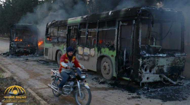 """حلب .. 39 قتيلاً في انفجار """"مفخخة"""" بقافلة مهجّرين – صور و الفيديو"""