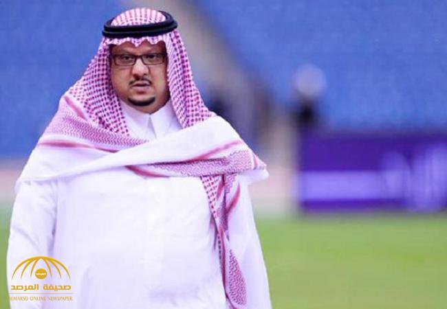 """"""" فيصل بن تركي"""" يرد على أنباء استقالته وتكاليف""""سلمان المالك"""" برئاسة النصر"""