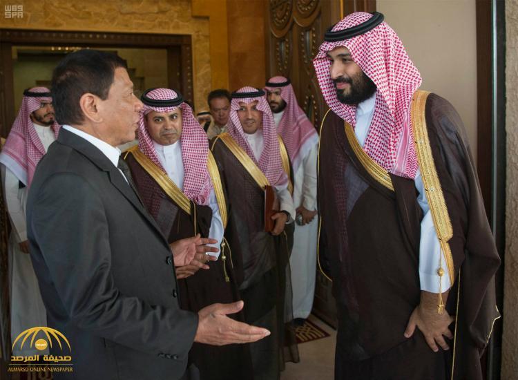 بالصور : ولي ولي العهد يجتمع مع رئيس جمهورية الفلبين