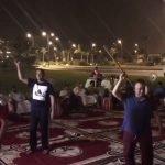 """بالفيديو: """"عادل عزت"""" يشارك في حفلة غنائية ويؤدي رقصة المزمار بملعب الجوهرة !"""