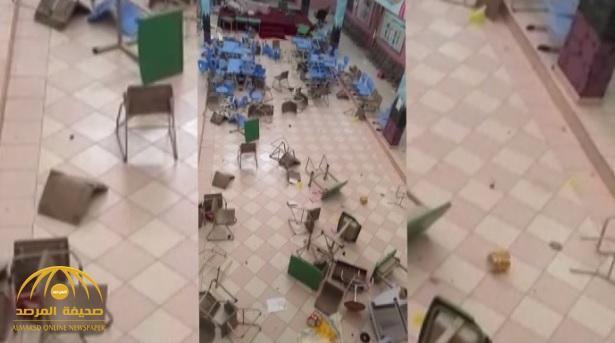 """بعد انتشار""""فيديو """"تدمير أثاث مدرسة المشعلية.. تعليم نجران تعلق!"""