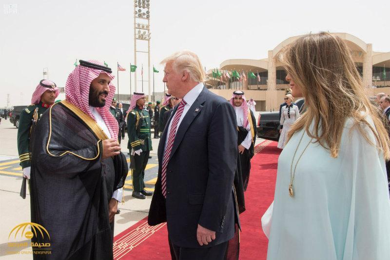 """بالفيديو والصور:الرئيس  الأمريكي""""ترامب""""يغادر الرياض"""