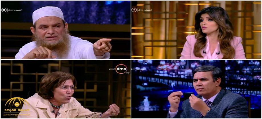 بالفيديو..كاتبة مصرية تهاجم داعية إسلامي على الهواء : ماتعلمنيش.. أنت عايز تقتلنا.. يا إرهابي!