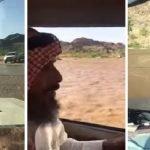 بالفيديو: شاهد ما فعله ولي أمر أحد الطلاب أثناء جريان السيول ببيشة!