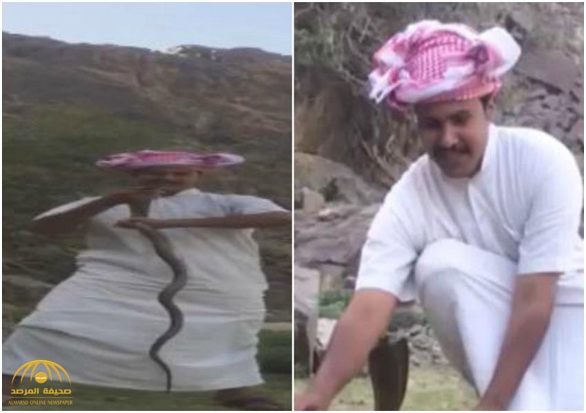 شاب يلتهم الثعابين ويُصارع الوحوش.. هكذا تحدى أصدقاءه واختار الطريق الصعب!–فيديو