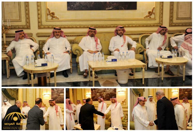 بالصور : أبناء الأمير مشعل بن عبدالعزيز يستقبلون المعزين في اليوم الثالث و الأخير
