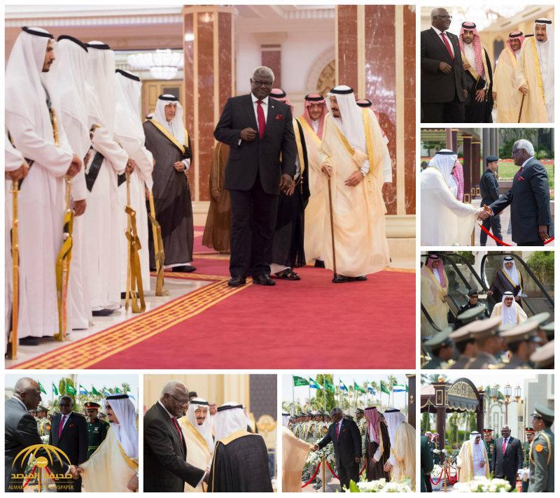 بالصور:خادم الحرمين الشريفين يستقبل رئيس جمهورية سيراليون