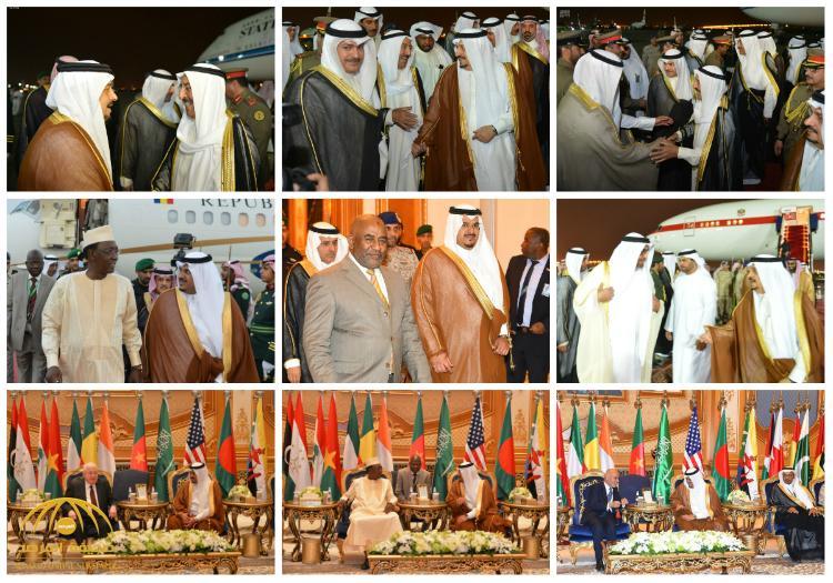 بالصور : أمير الكويت ورؤساء  العراق و أفغانستان و جمهورية القمر و تشاد وولي عهد أبو ظبي يصلون الرياض