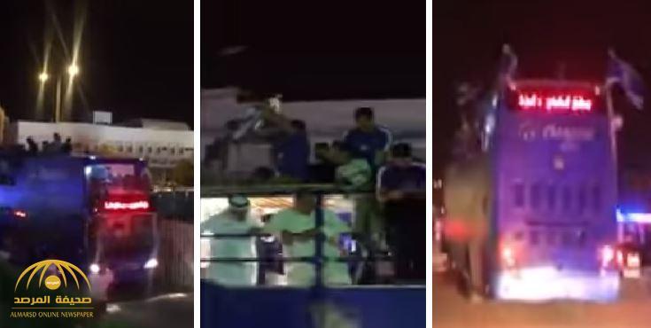 """بالفيديو: """"على الطريقة الأوربية"""".. احتفال """"الهلال"""" مع جماهيره بتتويجه بلقب دوري جميل"""