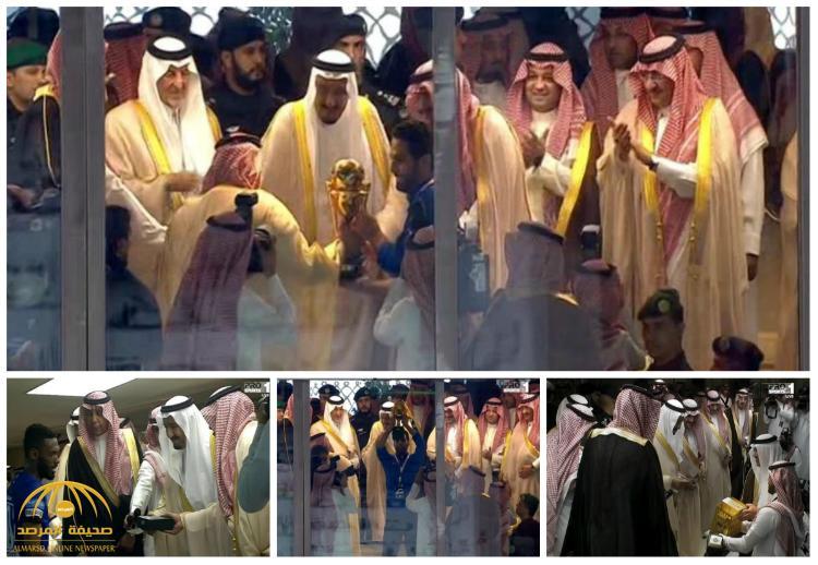 شاهد بالصور و الفيديو : لحظة تتويج خادم الحرمين فريق الهلال بكأس الملك