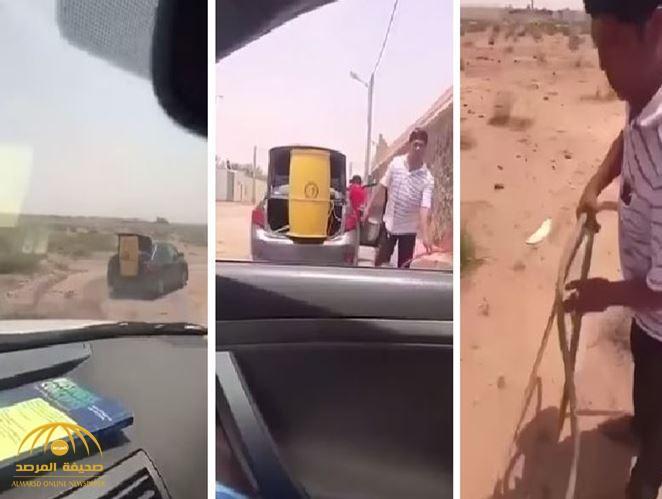 بالفيديو: شاهد ما فعله مقيم فلبيني لاصطياد ضبًا في إحدى المناطق الصحراوية