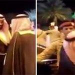 """بالفيديو: شاهد ردة فعل ولي ولي العهد """"محمد بن سلمان"""" لحظة محاولة مواطنين تقبيل كتفه ويده"""