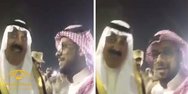 """بالفيديو .. مواطن لـ """"متعب بن عبدالله"""" : """"يا حظ الحرس فيك"""" .. شاهد كيف رد الأخير"""