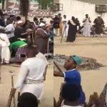 شاهد .. احتفال سكان  أحد حواري مكة بقدوم شهر رمضان