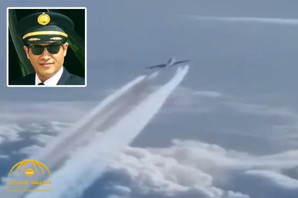 """بالفيديو.. هكذا تعامل كابتن بـ """"الخطوط السعودية"""" مع طائرة دخلت في نفس مساره .. يروي التفاصيل وتفاعل معه على """"تويتر"""" !"""