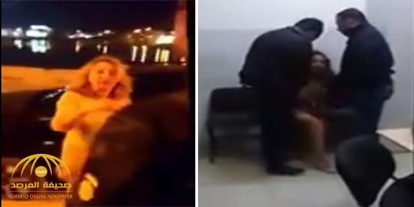 """أثارت جدلاً واسعاً.. سيدة تونسية تعتدي على رجال الأمن وتسب """"الذات الإلهية"""" – فيديو"""
