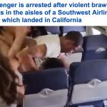 """معركة شرسة على متن طائرة أمريكية.. شاهد كيف تحولت الرحلة لـ """"حلبة مصارعة""""! –فيديو"""