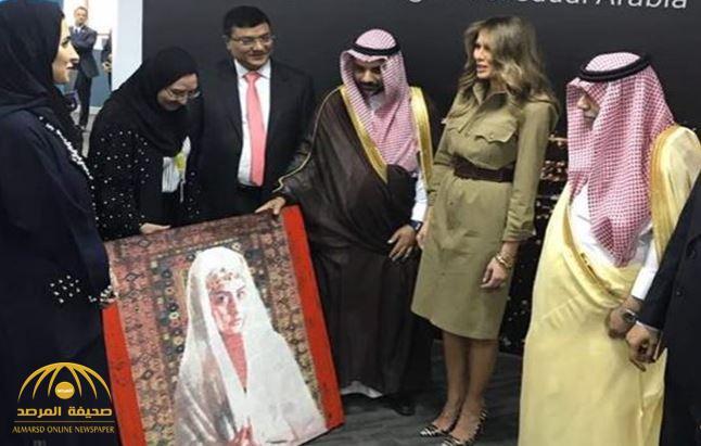 تعرف على السبب الذي دفع زوجة ترامب لشراء لوحة فنانة سعودية- صور