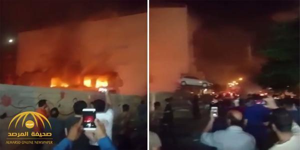 بالفيديو والصور .. انفجار قوي بمدينة شيراز الإيرانية