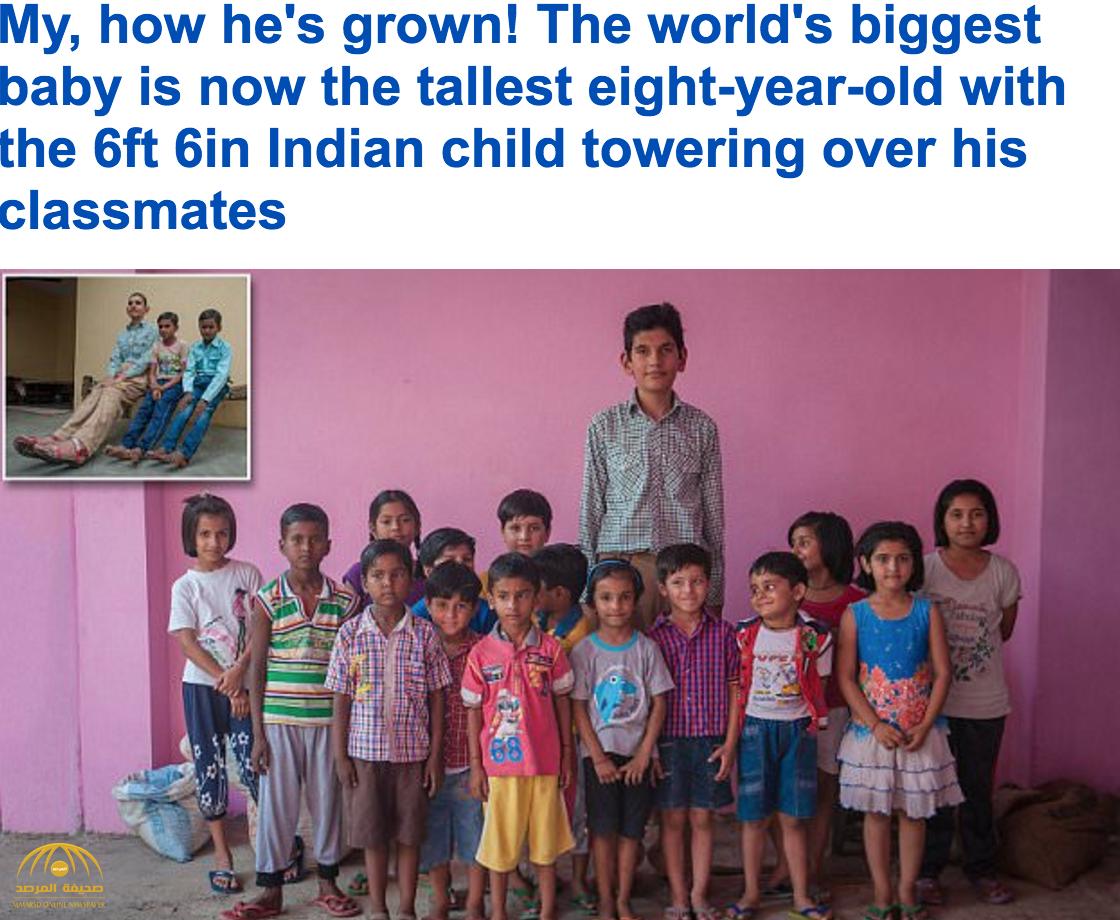 شاهد بالصور: أطول طفل في العالم